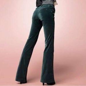 Body By Victoria Black Cotton Velvet Pants 8